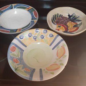 3 Individual salad/soup bowls